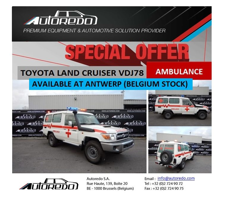 SPECIAL OFFER TOYOTA LAND CRUISER VDJ78 AMBULANCE
